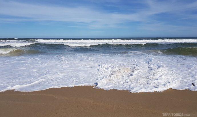 O mar em Cabo Polonio