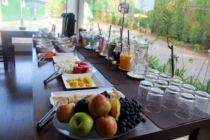 Café da manhã na Pousada Cantelli