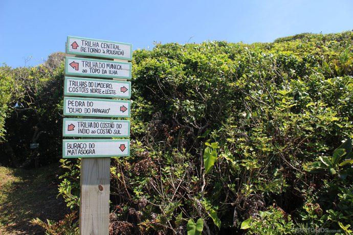 Trilhas na Ilha do Papagaio